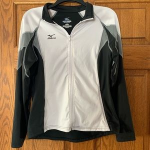 Black/white/gray volleyball warm up jacket